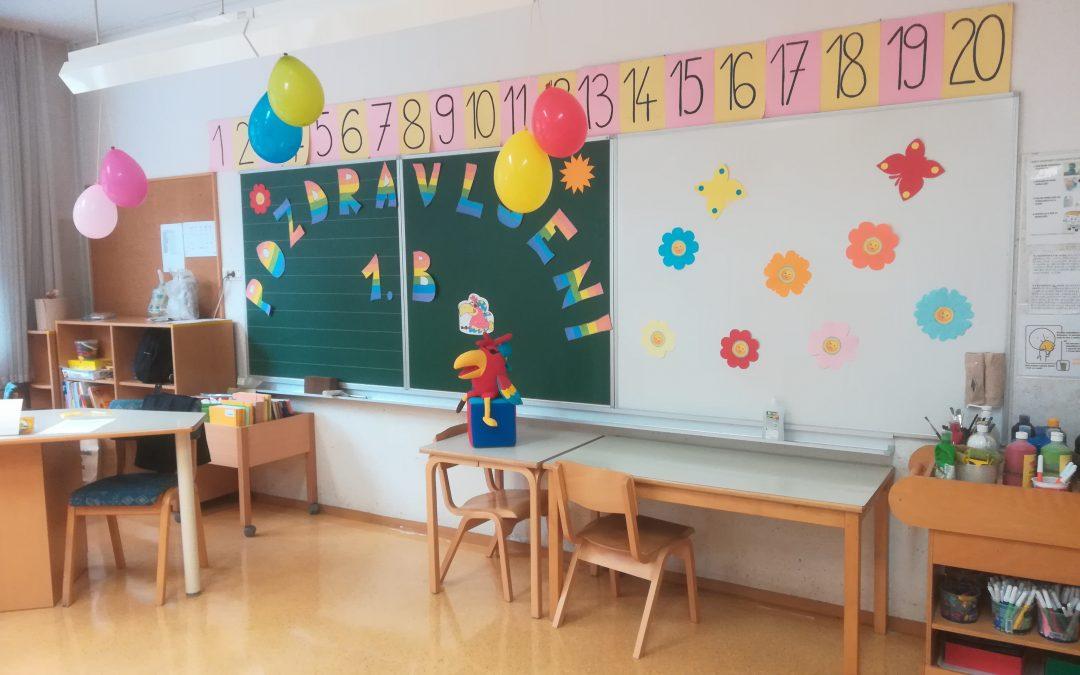 Učilnica že čaka na prvošolčke